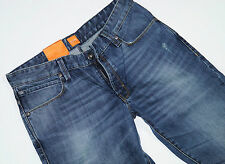 Nuevo-Hugo Boss Orange 63-w32 l34-Blue vintage Denim-slim jeans 32/34