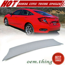 Painted Color Honda Civic 10th 4DR V-Look Trunk Spoiler Wing 16-17 EX-L LX