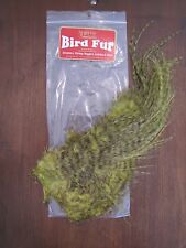 Fly Tying-Whiting Farms Spey Bird Fur Grizzly dyed Olive