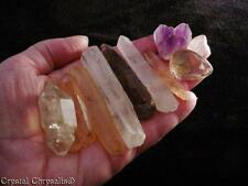 Lot Mixed Clear Amethyst Pink Red Inner Scene Rose Quartz Crystals - 106.7 Grams
