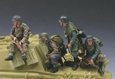 """KING & COUNTRY WS062 WWII """"JAGDPANTHER RIDERS"""" - FOUR FIGURE SET - MIB"""