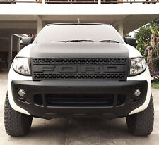 PLASTIC MATTE BLACK FRONT GRILLE GRILL RAPTER STYLE NEW FORD RANGER 2012-2014 T6