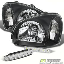 2001-2002-2003-2004-2005-2006 For Santa Fe Replacement Black Headlamps+SMD Lamps