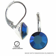 Ohrringe mit Swarovski Elements, Farbe: Metall Blau