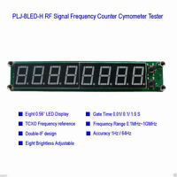0.1~ 60MHz 20MHz ~ 2.4GHz RF Singal Frequency Counter Cymometer LED Tester Meter
