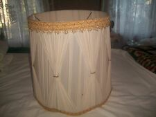 "Vintage Theatrical/Curtain Retro Lamp Shade 12 7/8"" Diameter 15"" Tall DISTRESSED"