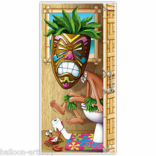 5ft tropicale hawaiano Luau Tiki TOILET DOOR COVER POSTER STRISCIONE Decorazione
