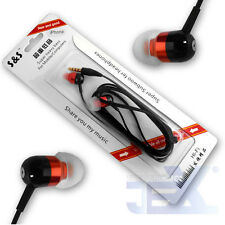 Red Aluminum Earbuds Earphones with Mic/Remote for Iphone/Ipod/ipad S-13-3