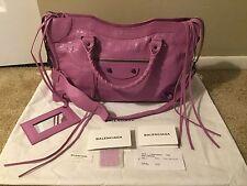 NWT BALENCIAGA Authentic Leather City Satchel Handbag