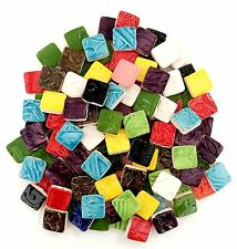 100 Multi Colored Handmade Mixed Bag Mosaic Tile Squares