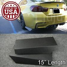 "15"" Rear Bumper Lip Downforce Apron Splitter Diffuser Valence Spats For  Ford"