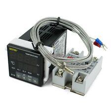 Digital PID Temperature Controller 220V Thermometer + K Thermocouple + 25DA SSR