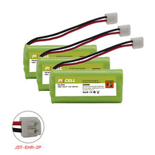 3X Cordless Phone Battery NI-MH AAA*2 600mAh 2.4V for Vtech CPH-4515D JST-HER-2P
