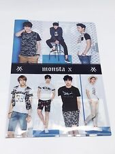 Monsta X KPOP Clear File Folder Photo Pocket Holder JOOHEON SHOWNU KIHYUN WONHO