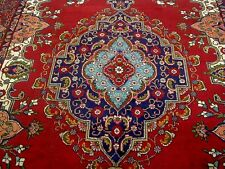 8X11 1940's GORGEOUS AUTHENTIC HAND KNOTTED ANTIQUE WOOL TABRIZ PERSIAN RUG