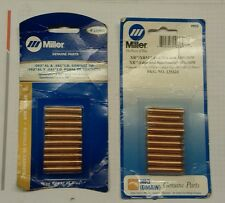 Miller  # 135424 and 135425 contact tips  New in packs. Mig , spool gun xr