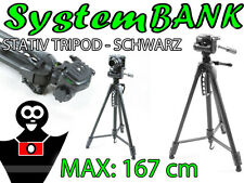Dreibeinstativ Stativ SCHWARZ 3D für CANON EOS SX150 SX130 G1X MARK II G16 S5 IS