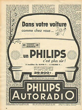 Publicité Advertising 1958  PHILIPS AUTORADIO