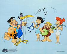 Dibujo original Los Picapiedra Pedro Vilma Pablo Betty tocan el arpa