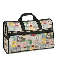 NEW LeSportsac Peanuts Snoopy Patchwork Large Weekender Bag
