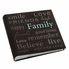 Family Brown Photo Album Gift Wedding Party Memories Holds 200 Pictures 4x6