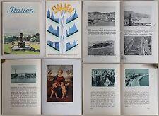 2 Prospekte/Reisebroschüren: Italien (um 1930) Sehenswürdigkeiten & Ortskunde xz