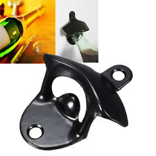 New Black Mini Wall Mounted Stainless Steel Wine Beer Glass Cap Bottle Opener