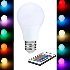 E27 15W Dimmable Remote Controlled Colour RGB Changing Light Bulb LED 85-265V