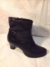 Clarks Black Ankle Leather Boots Size 5