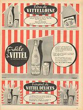 Publicité Advertising 1958  VITTEL DELICES eau pure gaz pur GRANDE SOURCE