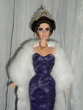 Stunning Elizabeth Taylor Barbie Doll Repaint And Styled.  Movie Goddess