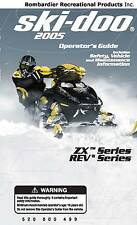 Ski-Doo owners manual book ZX & REV 2005 GSX / GTX / MX-Z FAN 550F