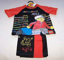 Lego This Is How I Roll Boys Black Red Printed Pyjama Set Size 4 New Imperfect
