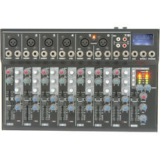 8 Channel PA/DJ Karaoke Mixer–USB/SD Effects Recording FX loop Delay Cross Fade