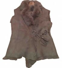 Putty Grey Sheepskin Gilet. Size UK10. Worn Only Twice. Excellent Condition.