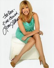 LEEZA GIBBONS HAND SIGNED 8x10 COLOR PHOTO+COA        SEXY LEGS      TO DAVE