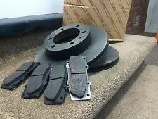 GENUINE TOYOTA AVENSIS FRONT BRAKE PADS AND DISCS 2003 2004 2005 2006 2007