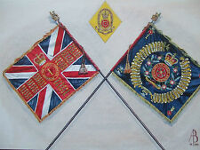 LIMITED EDITION MILITARY POSTCARD -QUEEN'S COLOUR IST BN QUEENS LANCASHIRE REGT