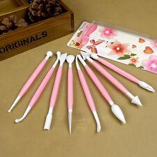 8Pcs Hot Fondant Cake Decorating Sugarcraft Paste Flower Modelling Tools Set Kit