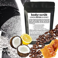 ORGANIC COFFEE, COCONUT, HONEY AND LEMON DETOX BODY SCRUB SO MUCH GOODNESS
