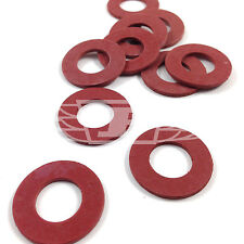 100 x RED FIBRE FLAT SEALING WASHER M4 M5 M6 M8 M10 KIT - FLATWASHER- PC