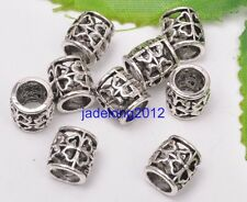 20pcs Carved Hollow Tibetan Silver Spacer Beads For Jewellry 9mm C3146