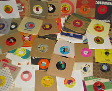 vintage 100 RECORD LOT 45rpm 1950s 60s 70s Pop Rock Country jukebox old vintage