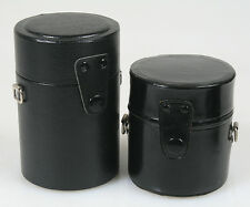 LENS CASES, SET OF 2 , 3 1/2 X 3 BLACK AND 4 11/16 X 3 BLACK