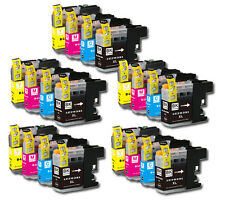 20 PK Printer Ink Set + Chip for Brother LC203 MFC-J460DW MFC-J480DW MFC-J485DW