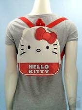 Hello Kitty Sanrio Face Logo Mini Backpack Purse Bag Red Satin Dot Trim $35 EXC