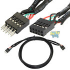 1M 3Ft 10 Pin Male to Female USB Header Internal Motherboard Extension Cable