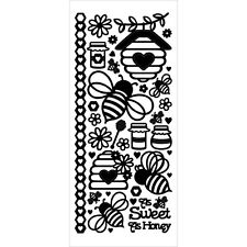 Scrapbooking Crafts Stickers Dazzles Honey Bees Black Hives Flowers