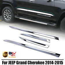 For JEEP Grand Cherokee 2014-2015 Chrome Door Body Side Molding Line Cover Trim