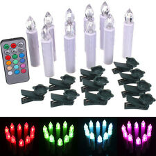 10x Remote Control Romantic Xmas Party LED Tea light Candles Battery Operated